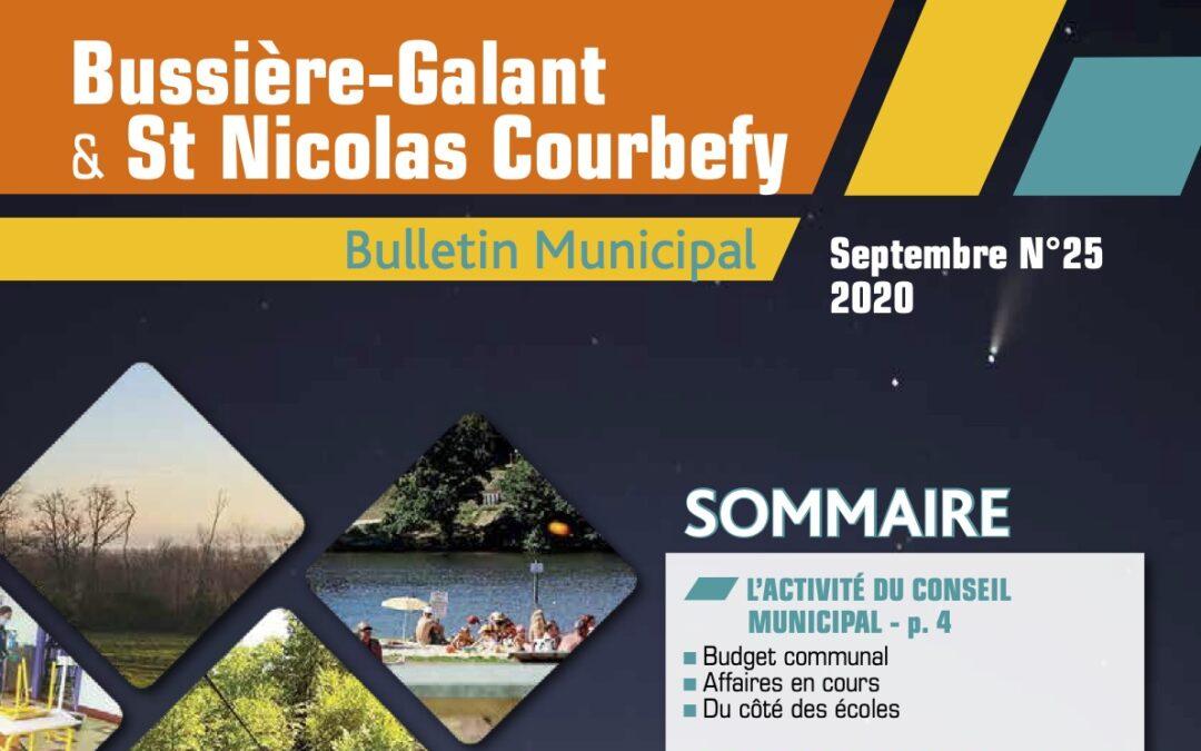 Bulletin municipal Septembre 2020
