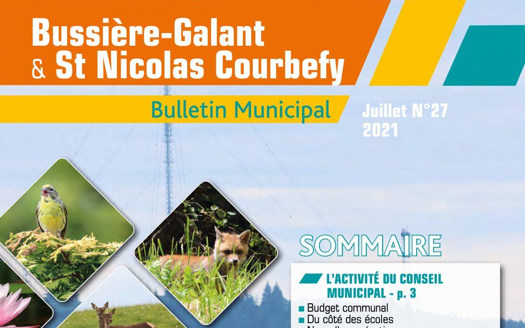 Bulletin municipal Juillet 2021