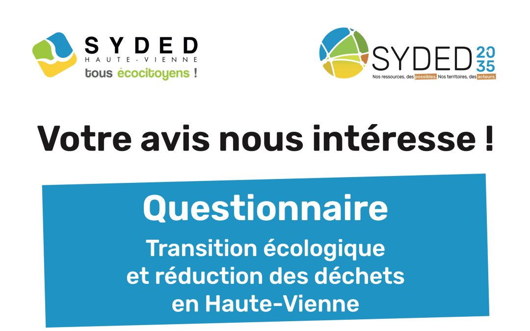Participez au projet de territoire et de développement concerté et partagé, appelé «SYDED 2035»