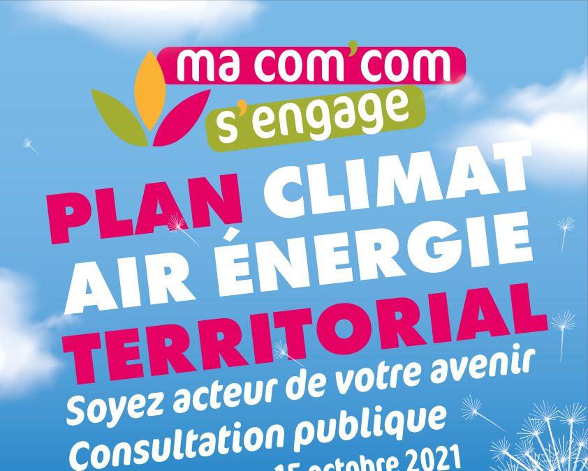 Consultation PLAN CLIMAT AIR ÉNERGIE TERRITORIAL du 15 septembre au 15 octobre 2021